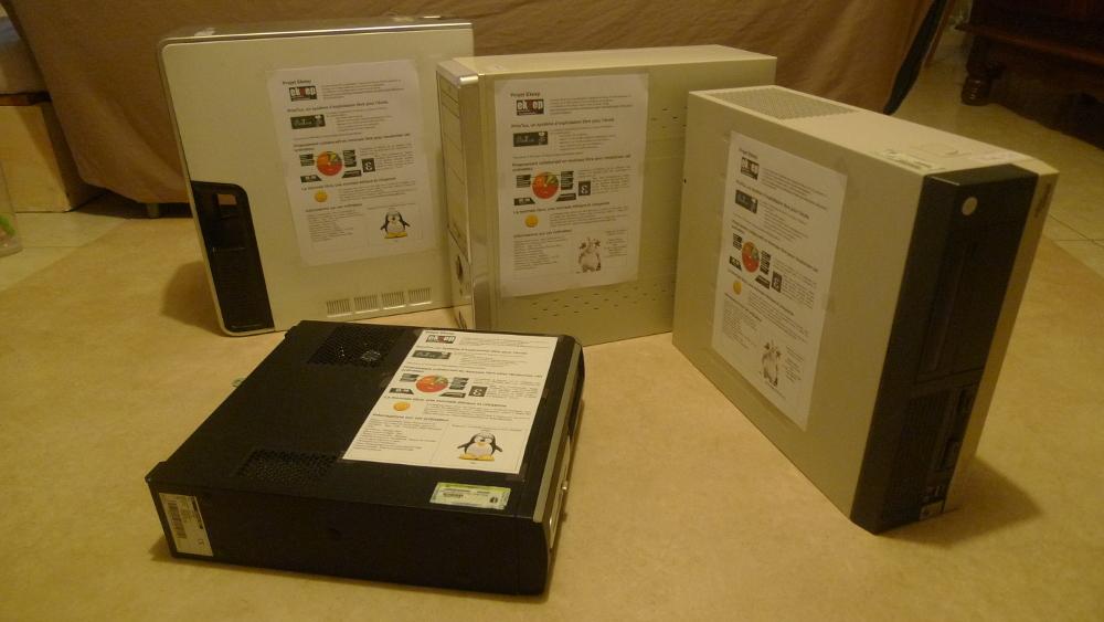4 ordinateurs revalorisés avec PrimTux